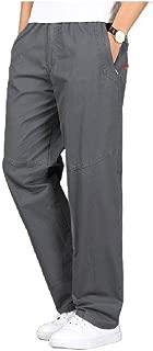 neveraway Men's Casual Big Tall Sizes Beach Loosefit Summer Straight Leg Pants