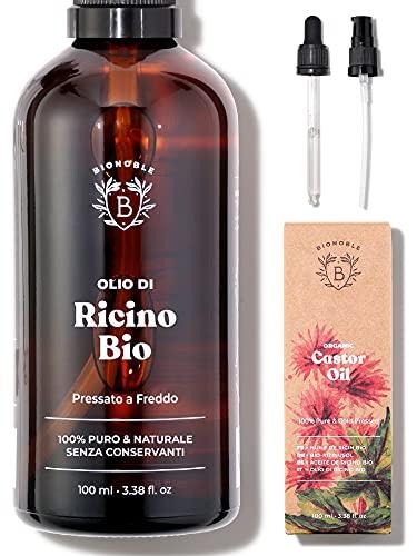 OLIO DI RICINO BIOLOGICO   100% Puro, Naturale e Pressato a Freddo   Ciglia, Sopracciglia, Corpo,...