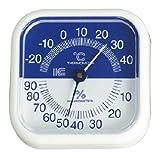 サーモ 440 スクエア80温湿度計 ブルー