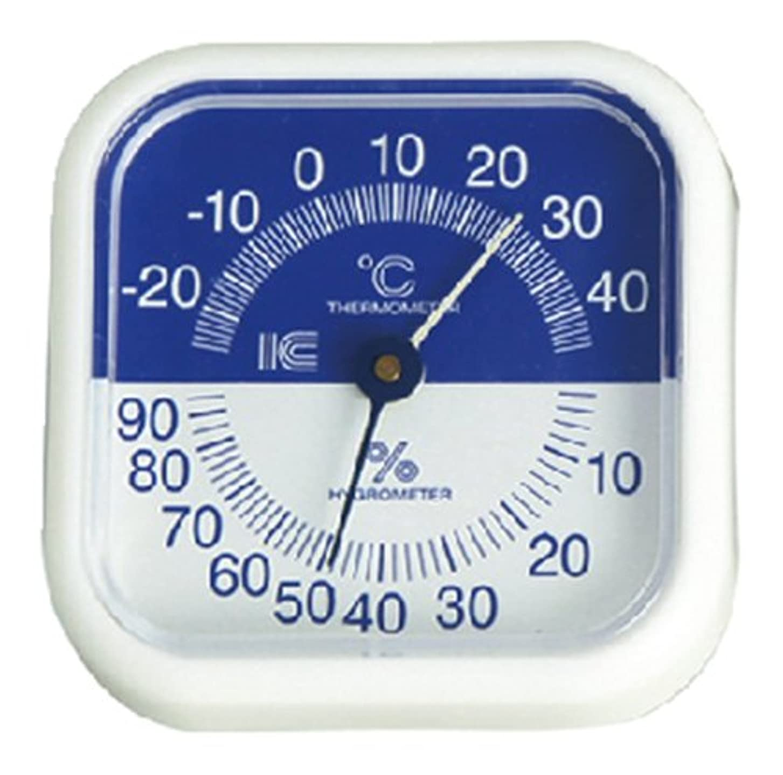 ビジュアルグラフマディソン440スクエア80温湿度計 ブルー