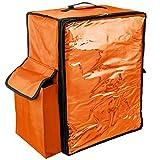 PrimeMatik - Mochila isotérmica 39 x 50 x 25 cm Naranja para Entrega de Pedidos de Comida en Moto y Bicicleta