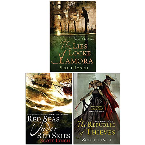 Gentleman Bastard Sequence Series Scott Lynch 3 Books Collection Set (The Lies of Locke Lamora, Red Seas Under Red Skies, The Republic of Thieves)