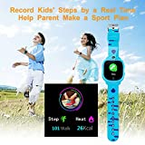 PROGRACE Kids Smart Watch Digital Camera Watch with Games, Music Player, Pedometer Step Count, FM Radios, Flashlights and 1.5 inch Touch LCD for Boys Girls Birthday Blue