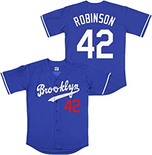 Kooy Robinson #42 Brooklyn Baseball Jersey Men Throwback Summer Christmas