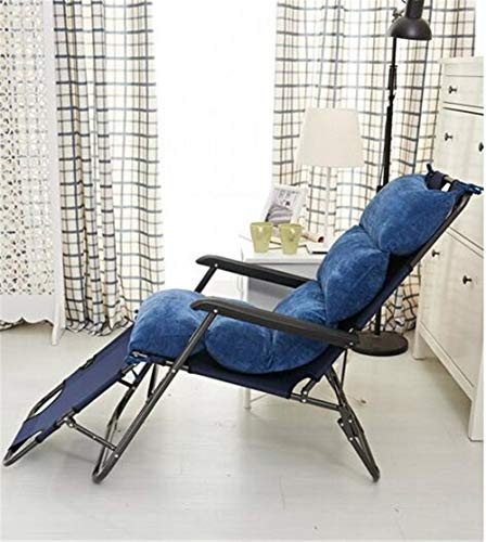 YU&AN Coussin Chaise berçante,Coussin de Chaise Longue,épaississement Anti-dérapant Coussin de Chaise Coussin Outdoor pour Jardin Table Office-Bleu foncé 50x120x6cm(20x47x2inch)