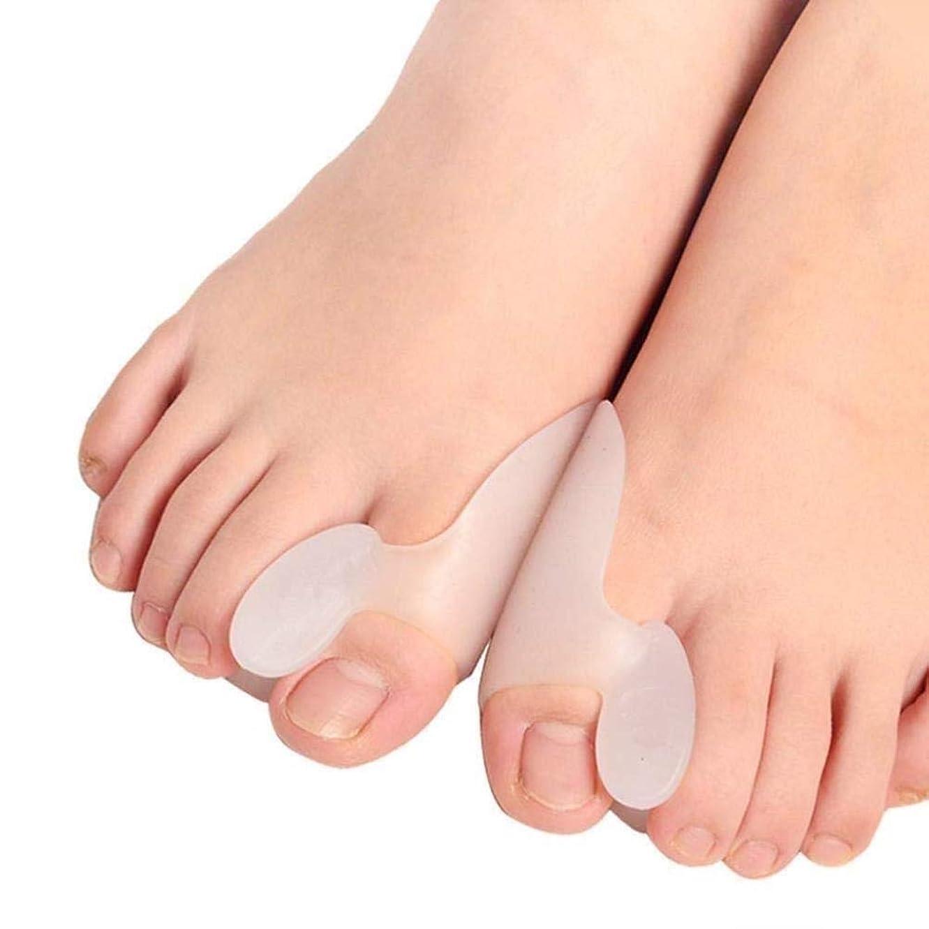 彼らのもの聡明ブランド外反母趾コレクター足底筋膜炎ハンマーつま先のための足セパレータ - オリジナルジェルトゥスペーサストレッチャーストレイテナースプレッダーパッド - 男性の女性のための小さな足プロテクター - ストップ足の痛み