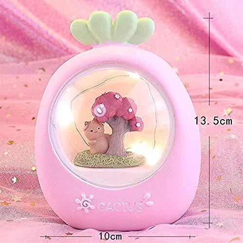 Nachtlicht Weihnachten süße Bär Nachtlicht Puppe Mädchen Herz Stern Schlafzimmer Schlafzimmer kleine frische Student Geschenk Halloween Weihnachtsgeschenk 13 5 x 10 mm rosa