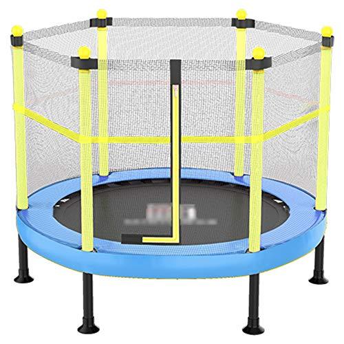YSHCA 60 inch trampoline fitness, opvouwbare trampoline met veiligheidsnet, mini trampoline incl. randafdekking elastisch touw voor kinderen