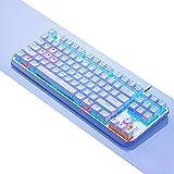 Teclado para juegos mecánicos Teclado LED Rainbow Gaming...