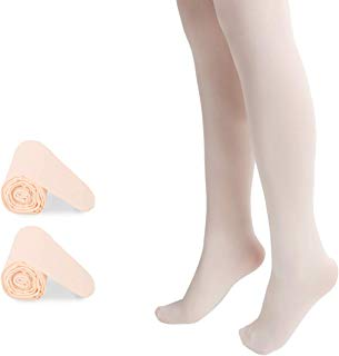 Bosowos Girls Tights Footed Dance Tights Ultra Soft Ballet Leggings for Kids Women