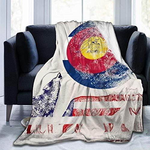 Plüsch Wurf Samtdecke USA Wolf Colorado Flauschiger Fleece Teppich Stuhl Lounging für Kinder Doppelseitige Schlafmatte Pad Flanellbezug für den Herbst