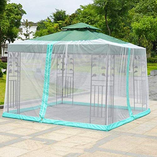 Furniture Decoration Patio Umbrella Mosquito Net Outdoor Garden Umbrella Mosquito Net Cover Netting Screen with Zippered Mesh Enclosure Cover Parasol Mosquito Bug Netting Cover (Size : 300 * 300 *