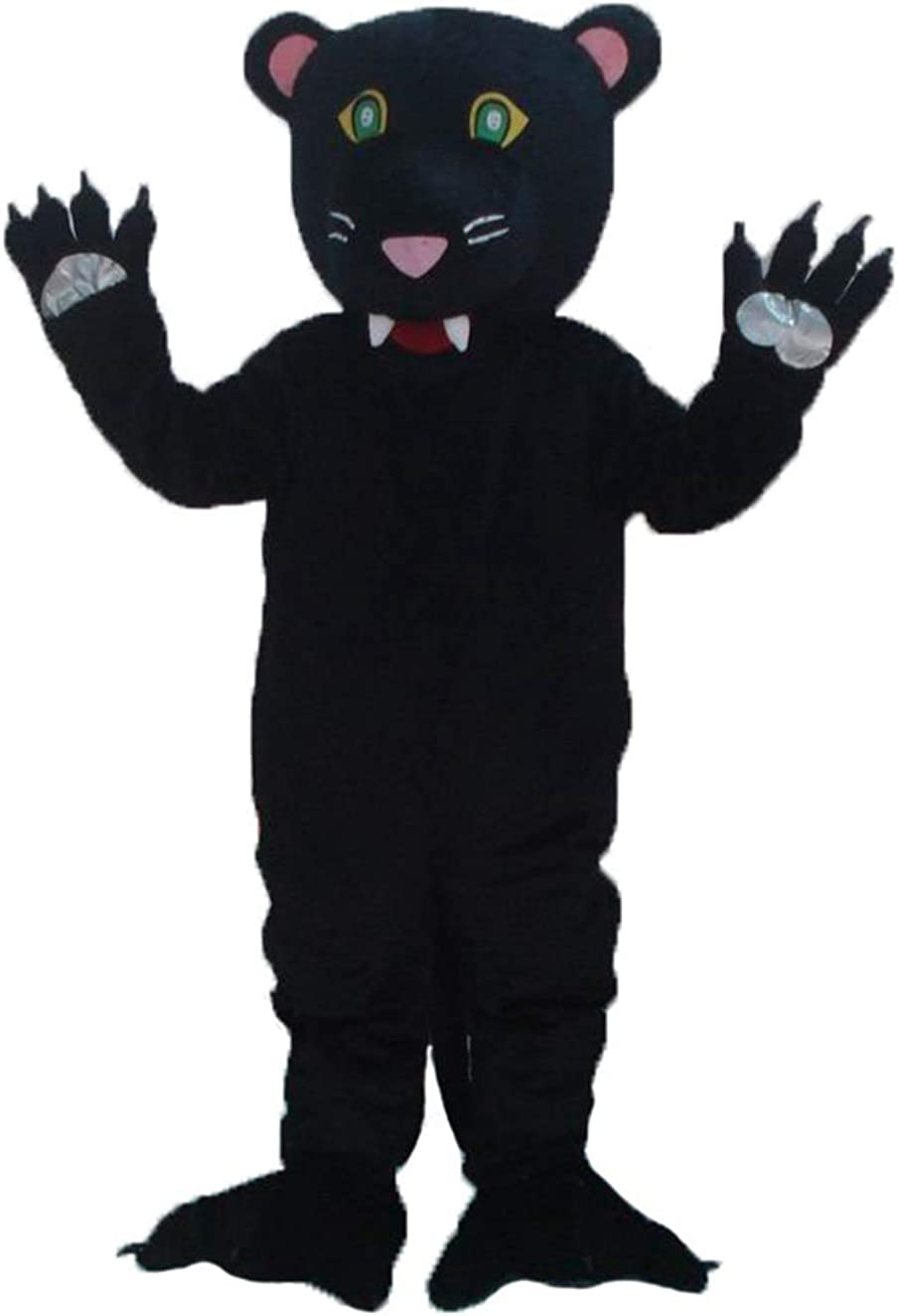 Adult Size Max 79% OFF Panther Max 45% OFF Mascot Costume for Suit Full Plush Party Blac