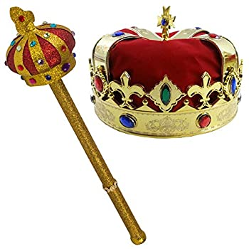Best kings crown and scepter Reviews