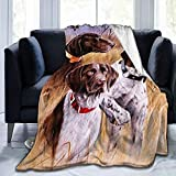 German Short-Haired Pointer Dog Blankets and Throws, Super Soft Thermal Indoor Outdoor Blanket, Microfiber Camping Throw Blankets for Living Room Bedroom Office Travel, 60 x 50 Inch