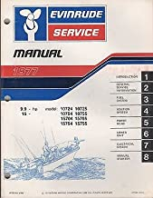 1977 EVINRUDE OUTBOARD 9.9 & 15 HP SERVICE MANUAL P/N 5305 (351)