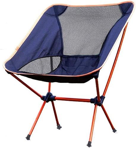 Yarmy Chaise De Camping Pliante en Plein Air Alliage D'aluminium portable Dossier Dossier Tabouret Ultra-léger Camping Pêche Chaise De Pêche Plage