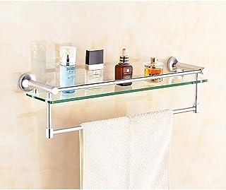 Étagères de salle de bain Allshiny étagères de rangement murales pour caddie de douche étagère en aluminium et en verre po...