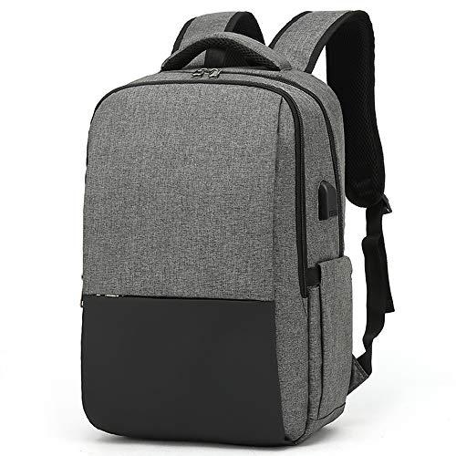 XQXA Zaino per laptop, zaino per laptop da 15,6 pollici, zaino da uomo con caricatore USB, zaino da...