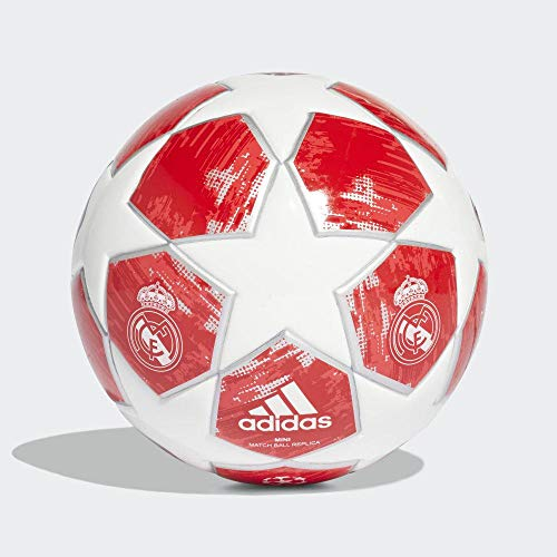 Adidas Finale18rm Min Ball (Machine-Stitched), Hombre, White/Silver Met./Real Coral s18/vivid Red, 1