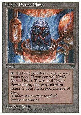 Magic The Gathering - Urza39;s Power Plant (Rock in Pot) - Chronicles