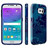 Speck Products CandyShell Inked Case for Samsung Galaxy S6 - Retail Packaging - Color Field Blue/Cadet Blue
