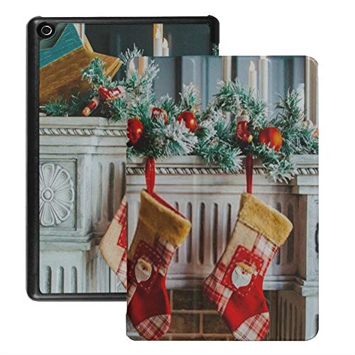 Fire Hd 8 Case for Girls Christmas Stocking Gift Warm Hearted Magical Cases for Kindle Fire Hd 8 (2018 2017 2016 Release,8th/7th/6th Generation) with Auto Wake/Sleep