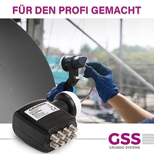 GRUNDIG Octo LNB-Digital, 8 Teilnehmer- mit LTE-Filter, 8-Fach, digital mit Wetterschutz, Full HD, 4K LNB Octo, 8er LNB, 8fach-LNB für Satellit-Fernsehen
