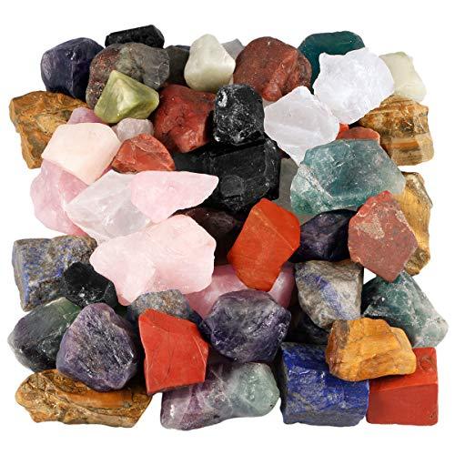 Nupuyai Rohsteine Edelsteine Mischung Steine Heilsteine Dekosteine Natursteine für Reiki Heilung Dekoration