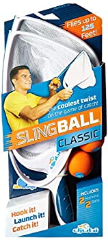 Blue Orange Djubi Classic - the Coolest New Twist on the Game of Catch! Slingball Classic White