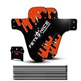 FETESNICE 2Pcs Mud Guard Plus 26' 650B 27,5' 29' MTB Schutzblech Spritzschutz Bike Fahrrad MTB Kabelbinder (Orange)
