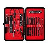 ZYC Set di 15 tagliaunghie professionali in acciaio inox per manicure, 2 pezzi