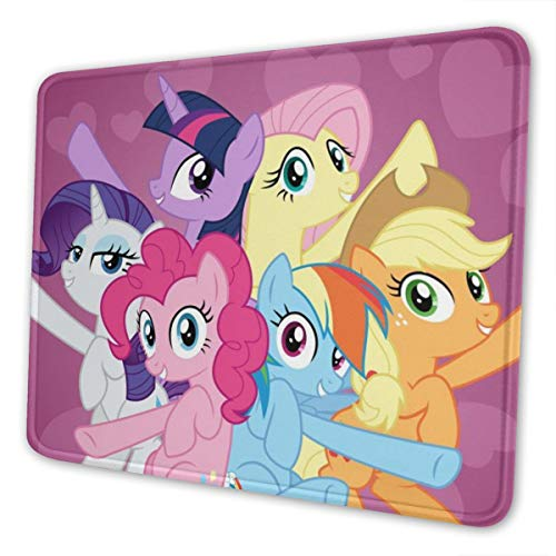 My Pony Cartoon Animation Rectangle Non-Slip Rubber Gaming Mouse Pad Mouse Pad with Stitched Edge Premium-Textured Mouse Mat Base Mousepad for Laptop Computer & PC 10x12inch