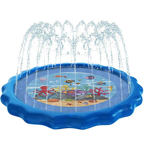 Dualplex Splash Pad Sprinkler for Kids & Toddlers - Outdoor...
