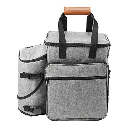 Tragbare Hundeausrüstung Reisetasche Wochenausflug Tasche für kleine Hunde Faltbare Näpfe Multifunktions-Futtermittel Spielzeug Aufbewahrung Reise Futter