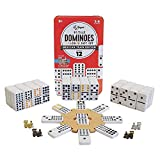 Regal Games Double 12 Colored Dot Dominoes Mexican Train Game Set...