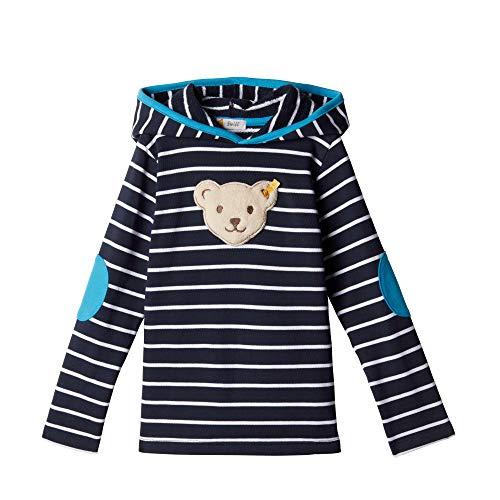 Steiff Sweatshirt mit Streifen und Quietscher, Blau (BLACK IRIS 3032),116