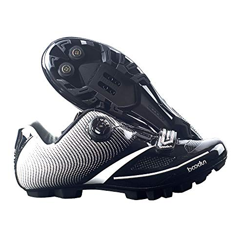 SIDEBIKE Adult's S01 MTB or Road Synthetic Cycling Shoe (7.5 M US, A2-MTB-Black)