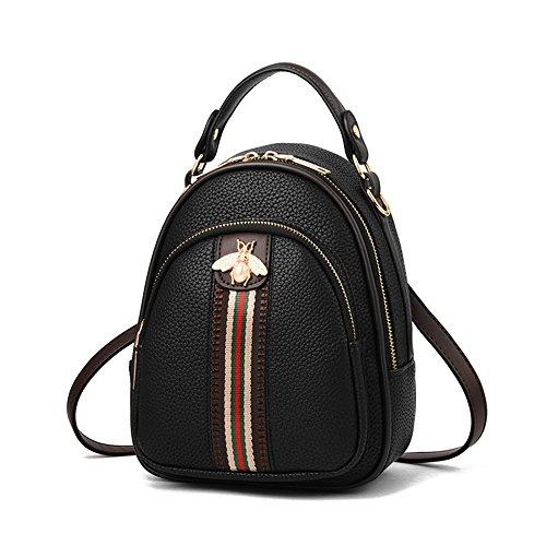 Beatfull Designer Backpack for Women Fashion Shoulder Bag Handbags Ladies Backpack Purse (black)