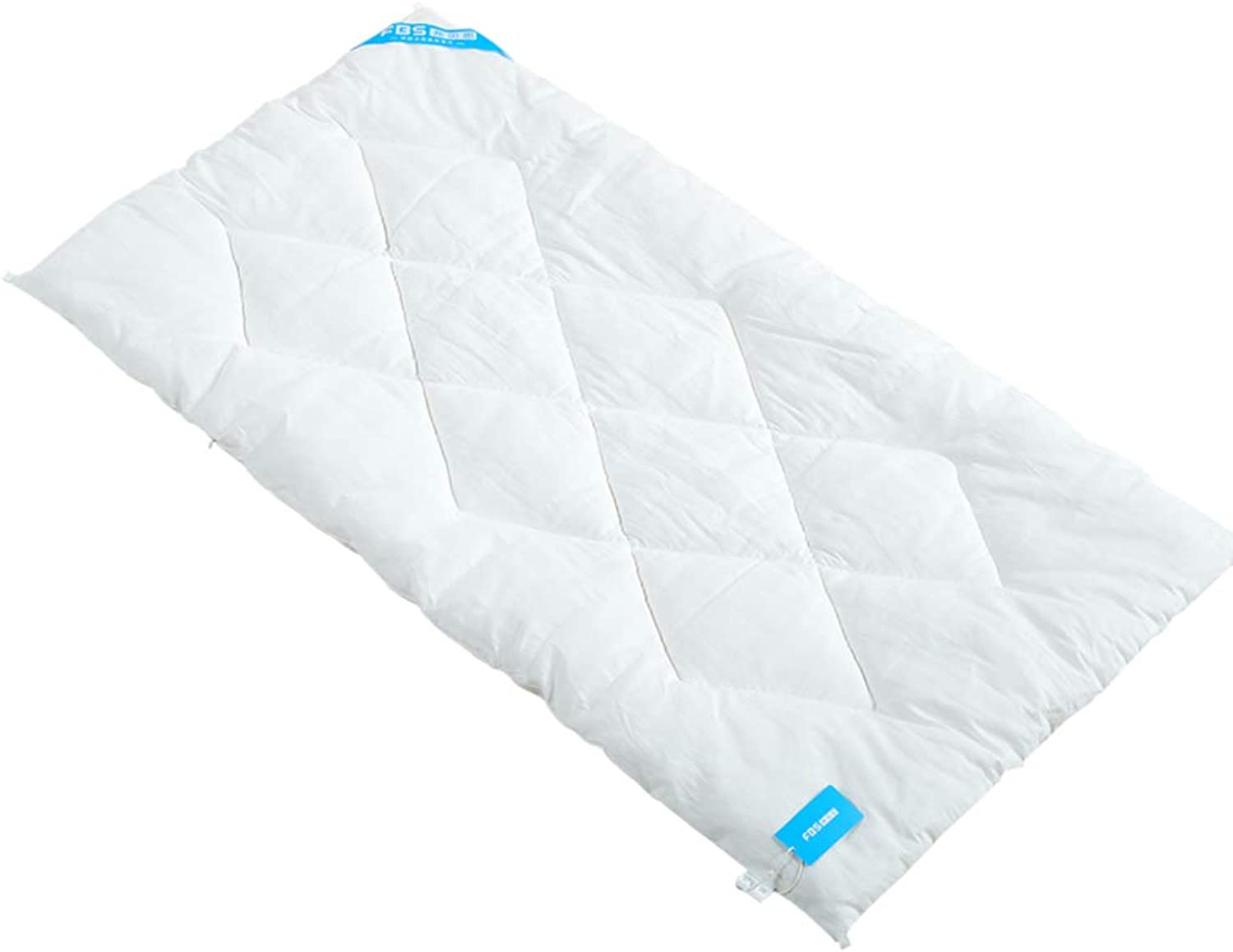 Soft Thick Cotton Mattress,Quilted Toddler Nap mat Fluffy Non-Slip Breathable Anti-Bacterial Toddler Rolled Nap mat Sleeping pad-White 60x110cm(24x43inch)