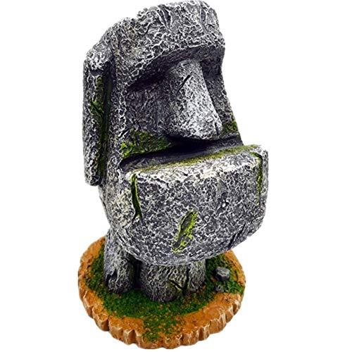 Zyh-hyz Ostern-Insel-Kopf-Statue, Moai Statue Büste Statue Kreative Feder-Halter Glas-Rahmen Weinlese-dekorative Skulptur