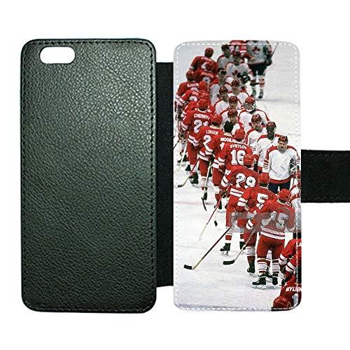 Diferencia Compatible con Apple iPhone 6Plus 6Splus 5.5Inch Chico Tener Hockey 6 Fundas para Tarjetas De Soporte Ranura para Tarjetas Choose Design 114-2