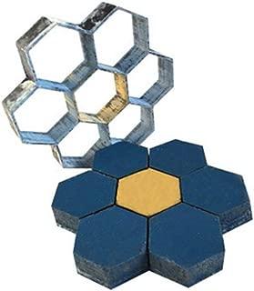 Plastic Concrete Mould Hexagonal Fancy Paving Mould Path Mould Honeycomb Plastic Ground Mould