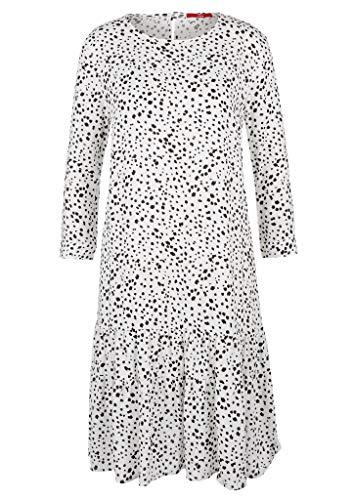 s.Oliver Damen 120.14.004.20.200.2053541 Kleid, Offwhite AOP dots, 36