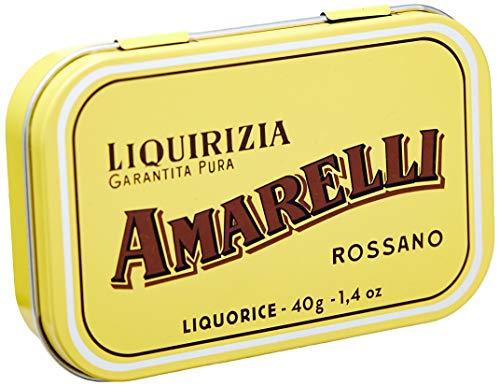 Amarelli Lakritzpastillen Gialla, Oro, groß, aus purem Süßholz, 40g.