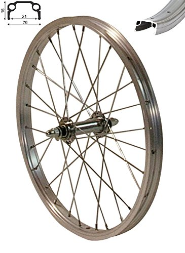 Redondo 16 Zoll Vorderrad Laufrad Fahrrad Kasten Felge Aluminium Silber