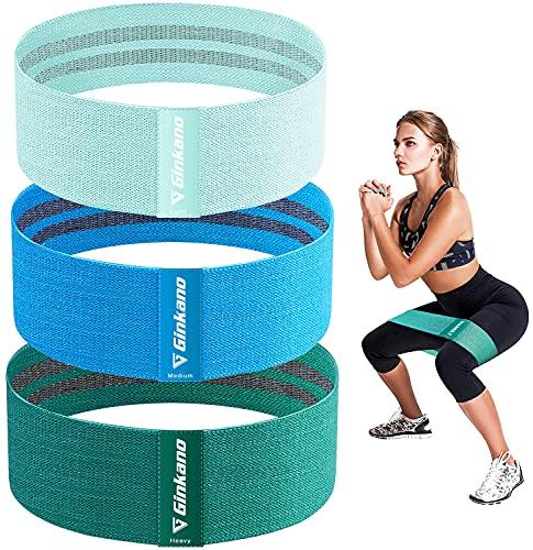 Haquno Bandas Elasticas[1-2-3Pcs],Banda de Fitness de Tela con múltiples Niveles de Resistencia, Adecuada para Ejercicios de Corta Distancia, Yoga, Pilates, Gimnasio