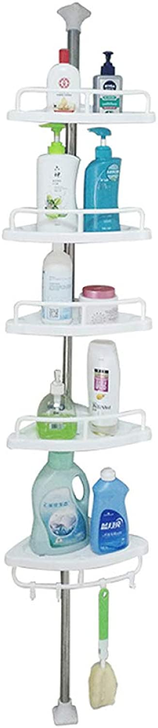 Punch-Free, Bathroom-Bathroom Rack, Wall-Floor Toilet Rack, Toilet Toilets Storage Devices, Home Appliances,White