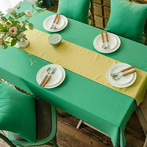 DJUX Home Decor Tablecloth Cotton Linen Table Cloth Rectangular Restaurant Kitchen Hotel Banquet Party Thickened Coffee Table Table Cloth