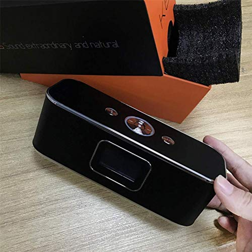 XY-M Bluetooth Reloj Despertador portátil de Altavoces de cabecera Externa Hi-Fi Reloj LED, LCD Voz de Despertador Lectura Controles táctiles Inteligentes de Pantalla de Cristal líquido de Man.